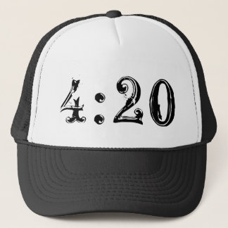 4:20 Trucker style hat Very hot