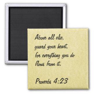 4:23 de los proverbios del imán del verso de la bi