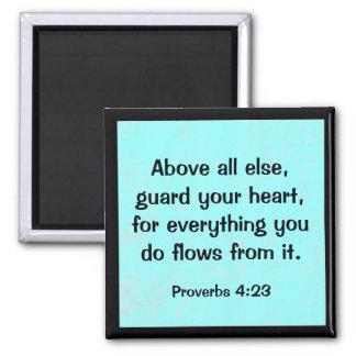 4:23 de los proverbios imán cuadrado