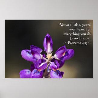 4:23 de los proverbios póster