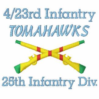 4 23rd Inf 25th Inf Div VSM Crossed Rifles Shirt