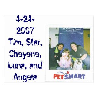 4-24-2007 Tim, Star, Cheyene, Luna, and Angela Postcard