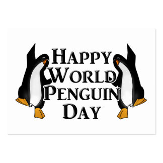 4-25 World Penguin Day Large Business Card