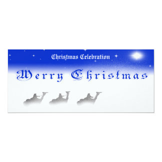 4.25 X9.25 Three Wise Men Merry Christmas Party In Card