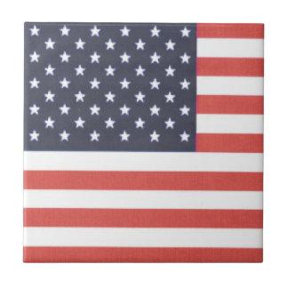 "4.25"" x 4.25"" Ceramic Tile - American Flag"