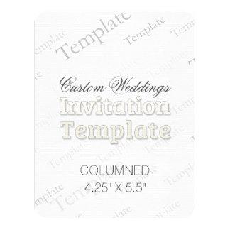 "4.25"" X 5.5"" Columned Custom Wedding Invitation"