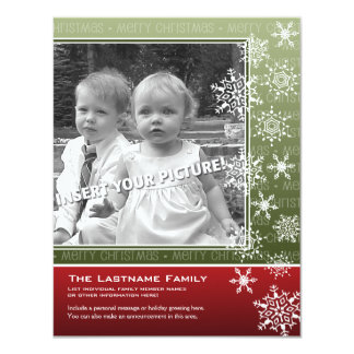 4.25 x 5.5 Double-sided Holiday Photo Cards -Not