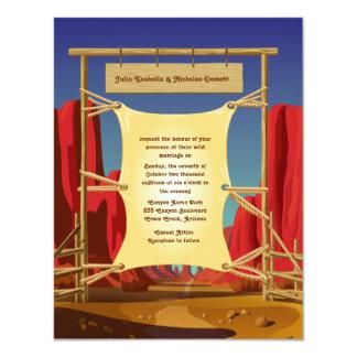"4.25"" x 5.5"" Wild West Wedding Invitation"