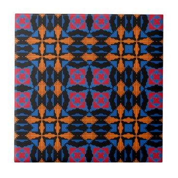 "Aztec Themed 4.25x4.25"" Tribal/Native American No Minimum Order Ceramic Tile"