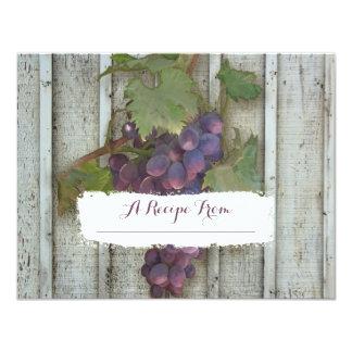 4.25x5.5 Paper Recipe Cards Bridal Shower Vineyard