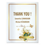 4.25x 5.25 Golden Luxury Floral Flower Butterflies Custom Invitation
