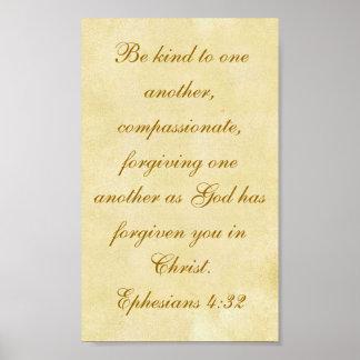 4:32 de Ephesians Póster