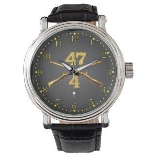 4/47th Inf. Brass Crossed Rifles Watch