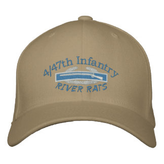 4/47th Inf. CIB & VSR River Rats Embroidered Hat