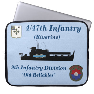 4/47th Infantry ATC & CIB Electronics Sleeve Laptop Sleeve