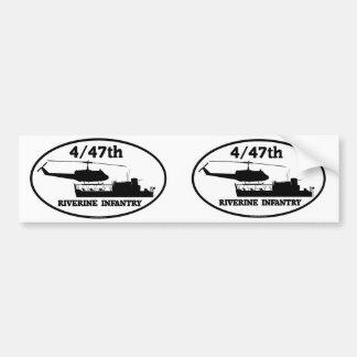 4/47th Riverine Infantry ATC(H) Euro-Stickers Bumper Sticker