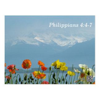 4:4 de los filipenses - tarjeta de memoria de 7 es postal
