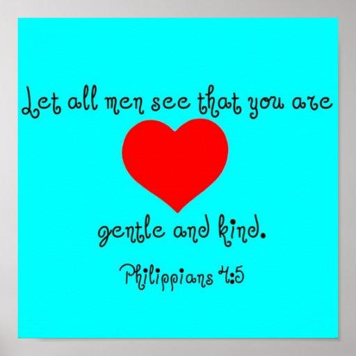 4:5 de los filipenses póster