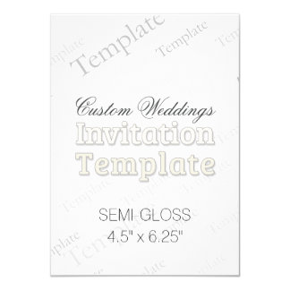 "4.5"" x 6.25"" Semi Gloss Custom Wedding Invitation 4.5"" X 6.25"" Invitation Card"
