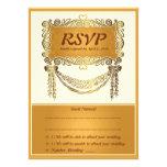 "4.5 x 6.25""  Vintage Luxury RSVP Wedding Card"