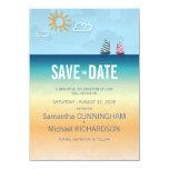 """4.5x625. Ocean Sand Beach Theme Wedding Save The 4.5"""" X 6.25"""" Invitation Card"""