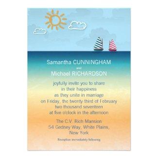 4.5x6.25 Ocean Sand Beach Theme Wedding Invitation