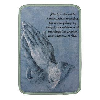 4:6 de los filipenses que ruega las manos Mac Book Fundas Macbook Air