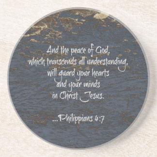 4:7 de Phillippians del verso de la biblia Posavaso Para Bebida