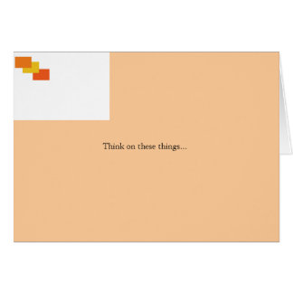4:8 de los filipenses tarjeta de felicitación