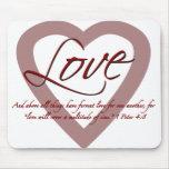 4:8 de Peter del amor 1 Alfombrilla De Ratón