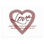 4:8 de Peter del amor 1 Tarjeta Postal