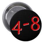 4-8Button (negro) Pin Redondo De 3 Pulgadas