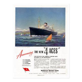 4 Aces 1948 Print Ad Postcard
