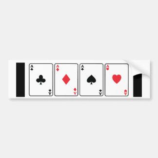 4 Aces Bumper Sticker