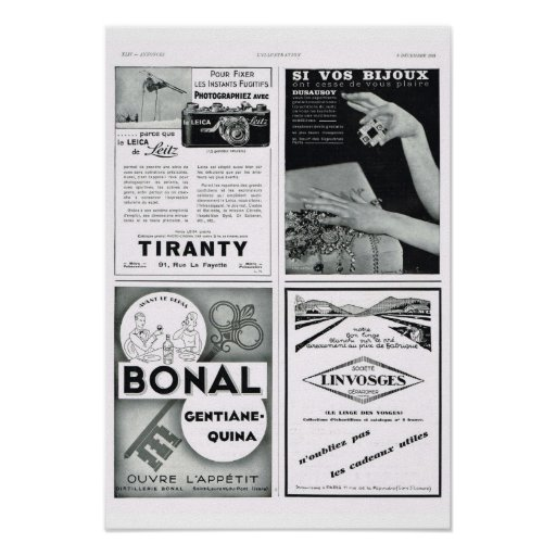 4 adverisements, incluyendo Bonal Posters
