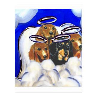 4 ángeles del doxie tarjetas postales