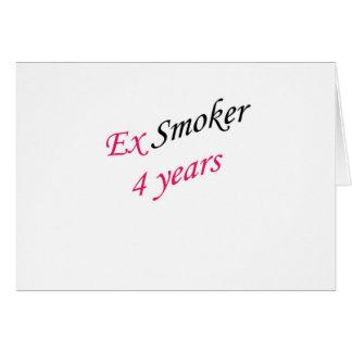 4 años de ex-fumador tarjeta de felicitación