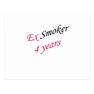 4 años de ex-fumador tarjeta postal