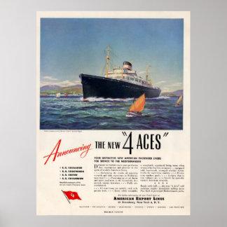 4 anuncio de la impresión de los as 1948 poster