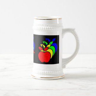 4 Apples a Day keeps 4 Doctors Away Beer Stein
