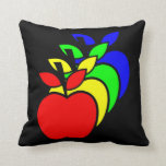 4 Apples a Day keeps 4 Doctors Away Throw Pillow