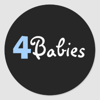 4 Babies Sticker blue