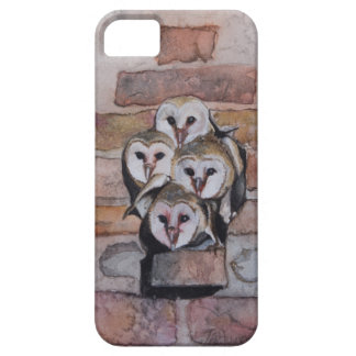 4 Baby Barn Owls iPhone SE/5/5s Case