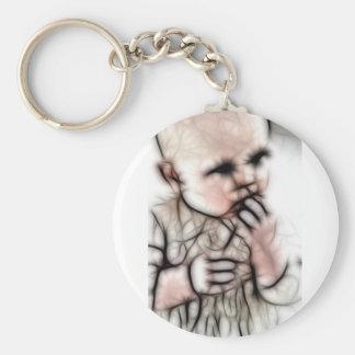 4 - Baby Dark Gear Basic Round Button Keychain