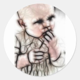 4 - Baby Dark Gear Round Stickers