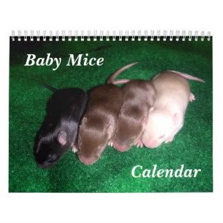 4 Baby Mice Growing Up Calendar