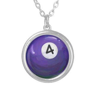 4 Ball Round Pendant Necklace