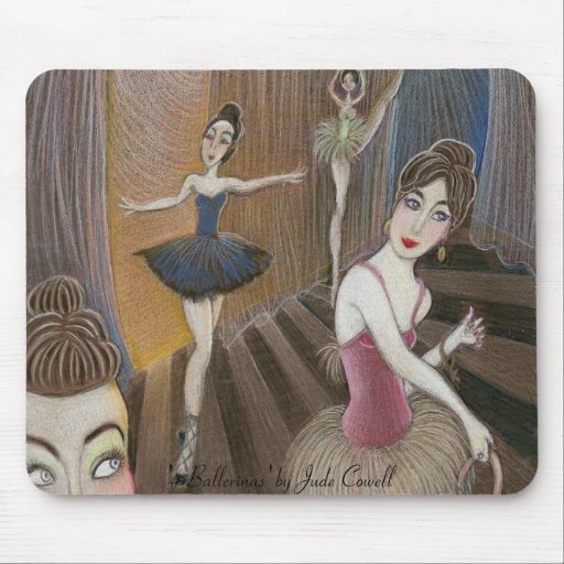 '4 Ballerinas' mousepad