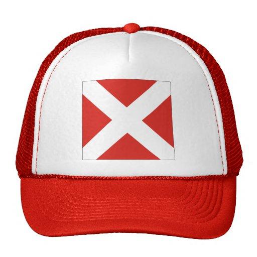 (4) bandera de señal cuatro gorras de camionero