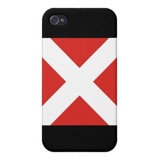 (4) bandera de señal cuatro iPhone 4/4S fundas